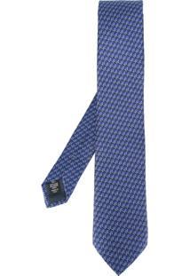 Ermenegildo Zegna Gravata De Seda Estampada - Azul