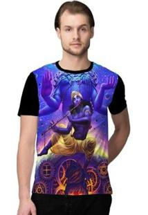 Camiseta Stompy Psicodelica37 Masculina - Masculino-Preto