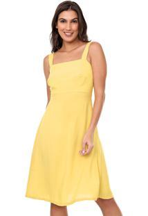 Vestido Mercatto Curto Liso Amarelo