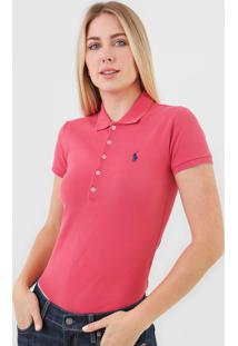 Camisa Polo Polo Ralph Lauren Reta Logo Vermelha