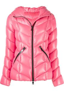 Moncler Zip-Up Hooded Jacket - Rosa