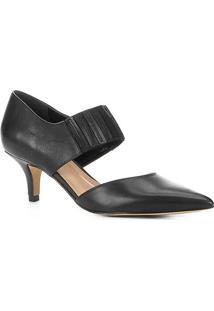 Scarpin Couro Shoestock Salto Médio Elástico