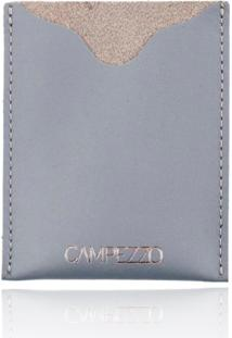Carteira Slim Campezzo Couro Cinza