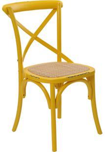 Cadeira De Madeira Katrina -Rivatti - Amarelo