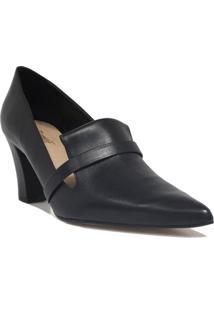 Sapato Zariff Shoes Scarpin Salto Bloco Preto