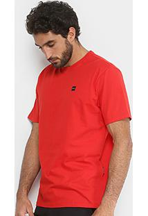 Camiseta Oakley Manga Curta Masculina - Masculino-Vermelho