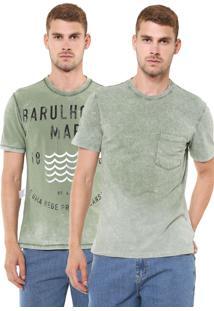 Camiseta Hering Dupla-Face Bolso Verde