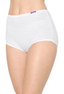 Calcinha Marcyn Hot Pant Canelada Branca