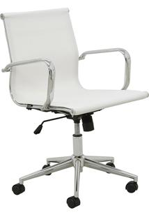 Cadeira Office Sevilha Baixa Tela Branca Rivatti Móveis