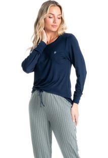 Pijama Longo Estampado Liza