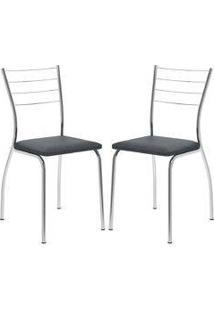 Cadeira 1700 Cromada 02 Unidades Jeans Carraro