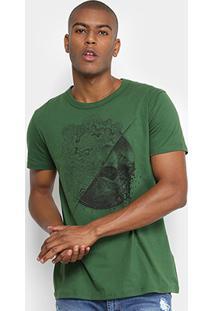 Camiseta Triton Estampada Masculina - Masculino-Verde