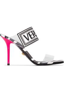 Versace Sandália Com Estampa De Zebra - Branco