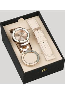 Relógio Analógico Mondaine Troca Pulseira Feminino - 99265Lpmvrs3 Rosê - Único