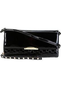 Carteira Luxcel Mini Bag Feminina - Feminino-Preto