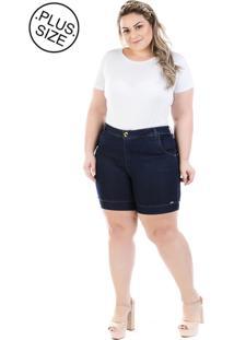 Short Jeans Plus Size - Confidencial Extra Athos Com Elastano