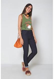 Calça Jeans Oh, Boy! Bardot Basica Jeans Feminina - Feminino-Azul