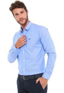 Camisa Yachtsman Reta Padronagem Azul