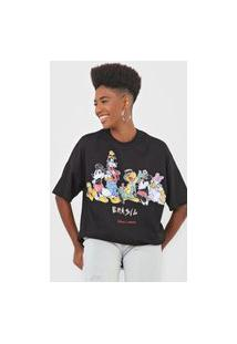 Camiseta Colcci Disney Preta