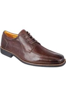 Sapato Social Derby Sandro Moscoloni Utah Masculino - Masculino-Marrom Escuro