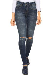1a6e1b0d0 ... Calça Jeans Colcci Skinny Cintura Alta Bia Rasgo Azul