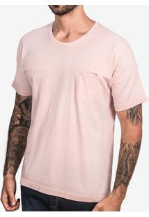 Camiseta Rosa Manga Oversized 103024
