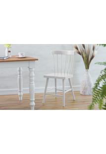 Cadeira Branca Para Mesa De Jantar Folk 45X46X83Cm