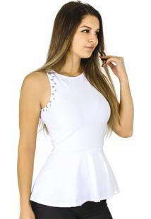 Regata Dress Code Moda Peplum Branca
