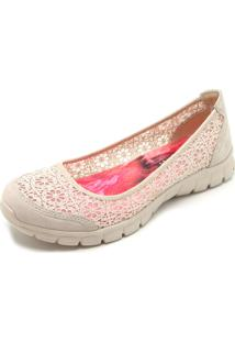 Sapatilha Skechers Ez Flex 3.0 Majesty Nude
