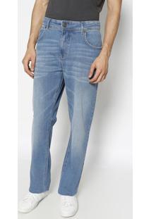 Jeans History Com Bolsos- Azul Claro- Forumforum