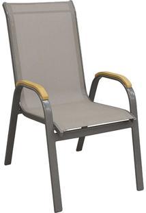 Cadeira Maresias Amêndoa Tela Bege Rivatti
