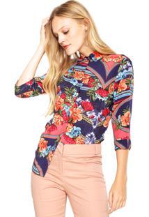 Camisa Lez A Lez Estampada Rosa