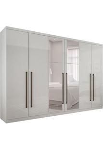 Guarda-Roupa Casal Com Espelho Bari 6 Pt 6 Gv Branco