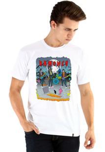 Camiseta Ouroboros Manga Curta Ramones - Masculino-Branco