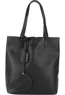 Bolsa Shoestock Shopper Note Feminina - Feminino-Preto