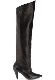 Givenchy Bota Over The Knee De Couro - Preto
