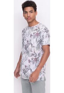 Camiseta Alongada Floral