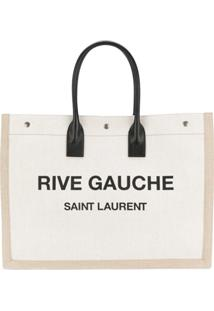 7ae9f8190 Saint Laurent Bolsa 'Rive Gauche' Com Logo - Neutro