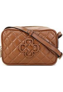 Bolsa Couro Capodarte Mini Bag Feminina - Feminino-Caramelo