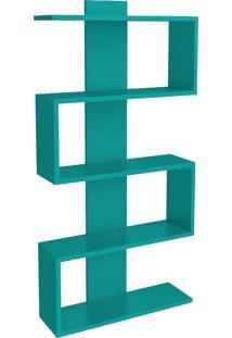 Estante Para Livros 4 Prateleiras Design Am3087 Turquesa - Móvel Bento