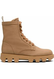 Prada Ankle Boot Em Jeans - Neutro