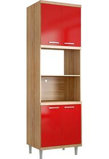 Módulo Para Forno 5120 Sicília - Multimóveis - Argila Acetinado / Vermelho Scarlet