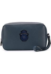 Billionaire Clutch Com Patch De Logo - Azul