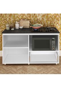 Balcão Para Cooktop E Microondas Branco Bl 210 Bc - Completa Móveis
