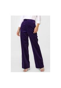 Calça Polo Ralph Lauren Pantalona Veludo Cotelê Roxa