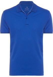 Polo Masculina Oxford Bvis - Azul