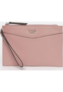 Carteira Gleeson Slg Wristlet - Rosa Claro - 16X23X1Guess
