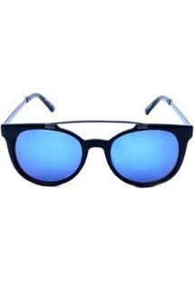 Óculos Solar Otto Lente Espelhada - Feminino-Preto