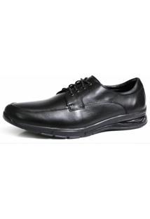 Sapato Social 3Ls3 Shoes Couro Preto