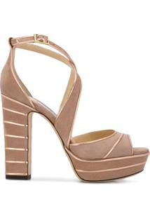 Jimmy Choo Sandália 'April' - Rosa